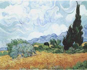 Van Gogh - Yellow Wheat with Cypresses